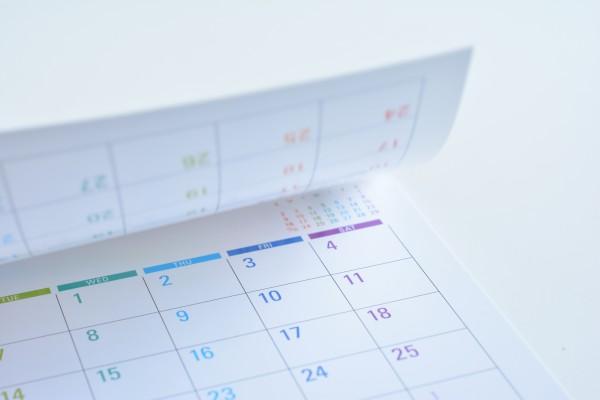 カラフルなカレンダー